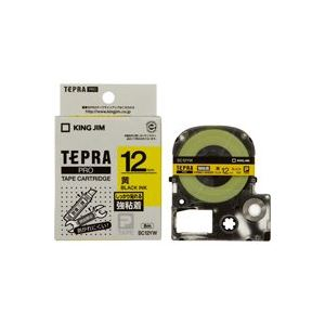 (業務用50セット) キングジム テプラ PROテープ/ラベルライター用テープ 【強粘着/幅:12mm】 SC12YW イエロー(黄) ×50セット