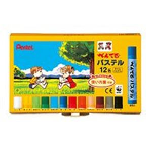 (業務用60セット) ぺんてる パステル GHSR-12 12色セット 【×60セット】