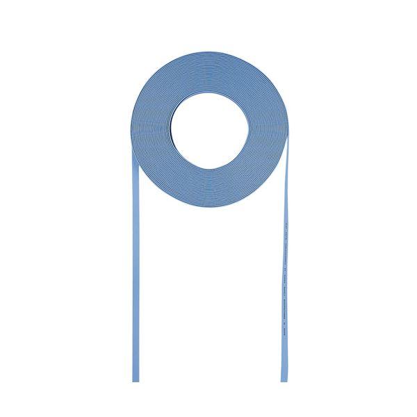 (まとめ)サンワサプライ 超フラットケーブルのみ(ライトブルー・100m) LA-FL5-CB100LB【×2セット】