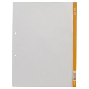 (業務用500セット) キングジム クリアホルダー Lホルダー730 A4S 橙 【×500セット】