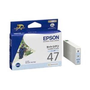 (業務用40セット) エプソン EPSON IJインクカートリッジ ICLC47 ライトシアン ×40セット