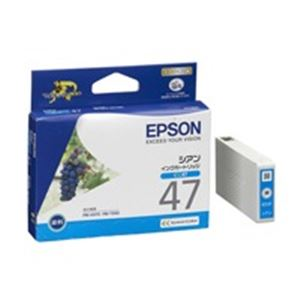 (業務用40セット) エプソン EPSON IJインクカートリッジ ICC47 シアン ×40セット