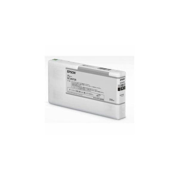 EPSON インクカートリッジ グレー 200ml SC12GY20