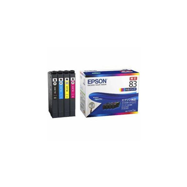 EPSON 純正 インクパック 4色パック 標準タイプ IC4CL83