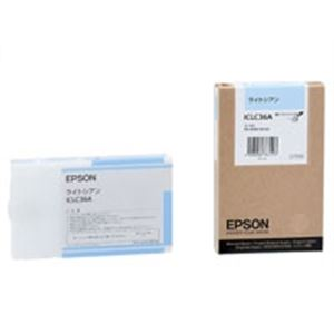 (業務用10セット) EPSON(エプソン) IJインクカートリッジ ICLC36A ライトシアン ×10セット