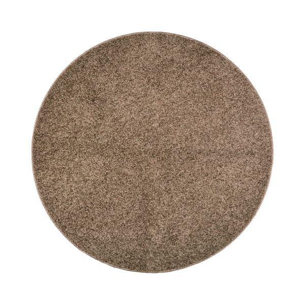 抗菌防臭 ラグマット/絨毯 【160R ブラウン】 円形 日本製 折りたたみ 防ダニ ホットカーペット 通年可 『デタント』【代引不可】【送料無料】
