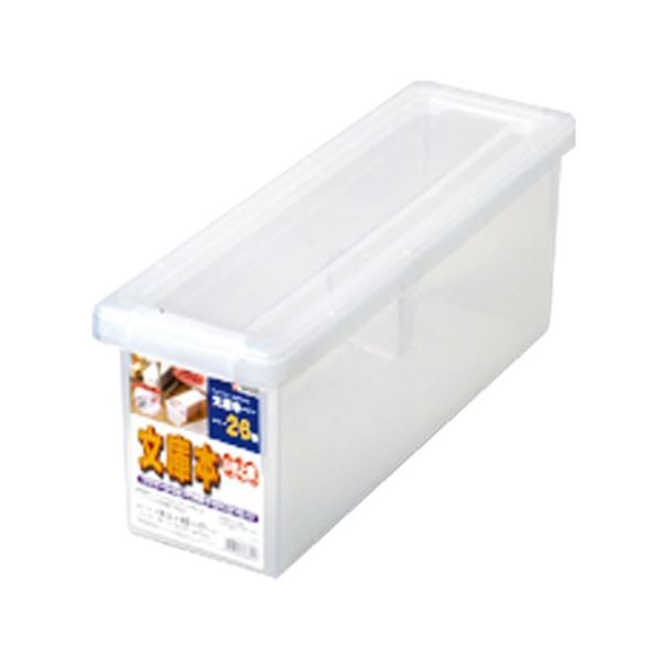 (まとめ) クリア 収納ボックス/収納ケース 【文庫本】 スライド式仕切り板付き 『いれと庫』 【×18個セット】