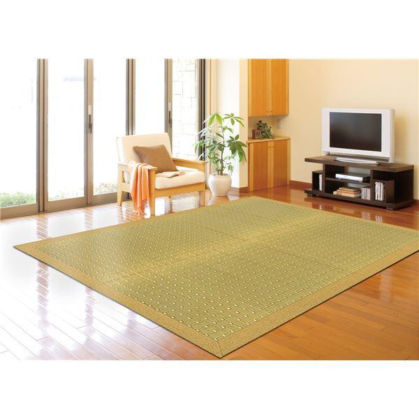 国産い草 ラグマット/絨毯 【約191×250cm ベージュ】 日本製 裏貼り仕様 防滑加工 縁:綿100% 『吉兆 きっちょう』【代引不可】