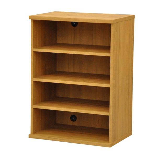 カラーボックス(収納棚/カスタマイズ家具) 4段 幅58.9×高さ81.9cm セレクト9060BR ブラウン【代引不可】