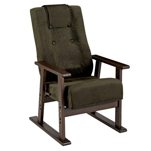 腰をいたわる高座椅子 グリーン 日本製 13段階リクライニング 高さ5段階調節 YS-1625【代引不可】【送料無料】