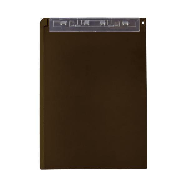 (まとめ)LIHITLAB クリップボード(スタンド付)A-5167-9 茶(×20セット)