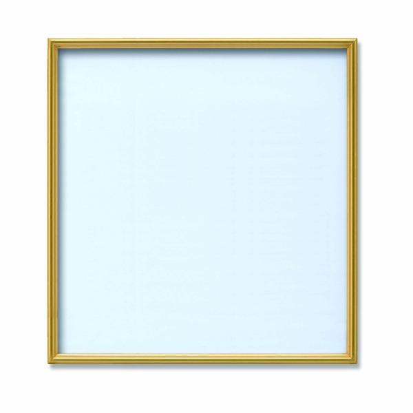 【角額】アルミ正方形額・壁掛けひも・アクリル付き ■500角(500×500mm)ゴールド