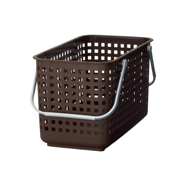 (まとめ) ランドリーバスケット/洗濯かご 【M ブラウン】 スタッキング可 SCB-11 『スカンジナビアスタイル』 【10個セット】