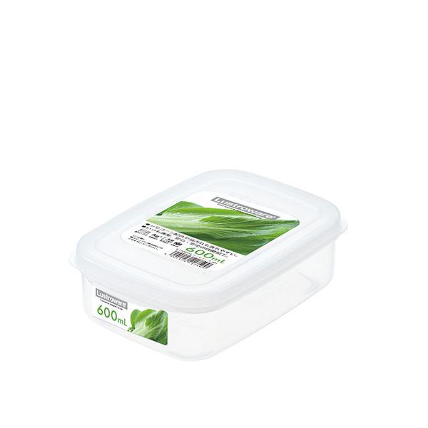 (まとめ) フードケース/保存容器 【Mサイズ】 角型 銀イオンAg+効果 取っ手つき キッチン用品 【×100個セット】