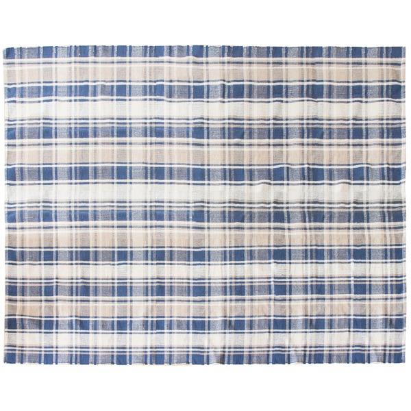 インド綿ラグMASALA チェック柄 綿100% インド製 RG-CH1924A 190×240cm【代引不可】
