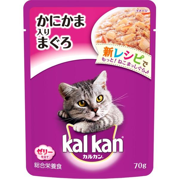 (まとめ)カルカン パウチ かにかま入りまぐろ 70g【×160セット】【ペット用品・猫用フード】