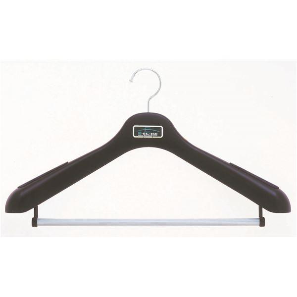 (まとめ) スーツハンガー/フォーマルハンガー 【肩幅47cm】 スーツ Lサイズ用 滑り止めパット付き 【×30個セット】