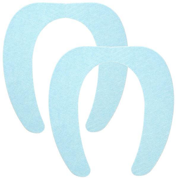 (まとめ) 便座シート/吸着べんざシート 【ブルー 2組入】 洗える トイレ用品 『レック ぴたQ』 【72個セット】