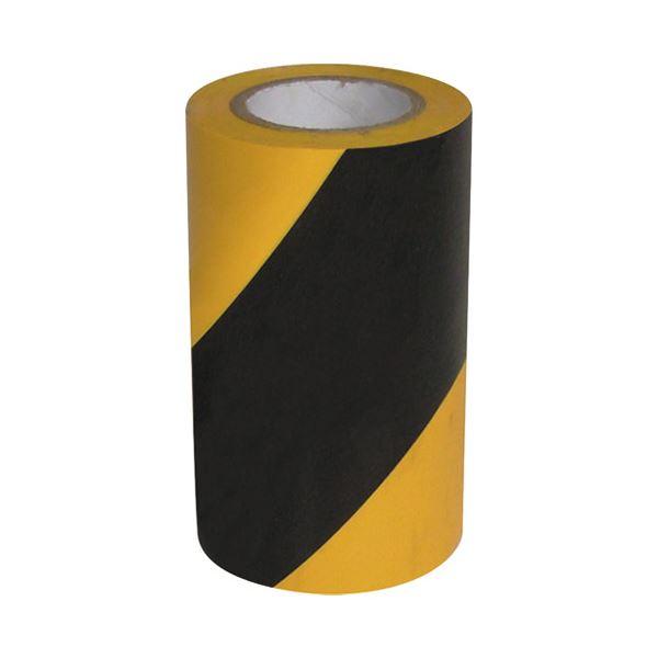 (まとめ)WING ACE 危険表示テープ 90mm×10m 斜めシマ【×30セット】