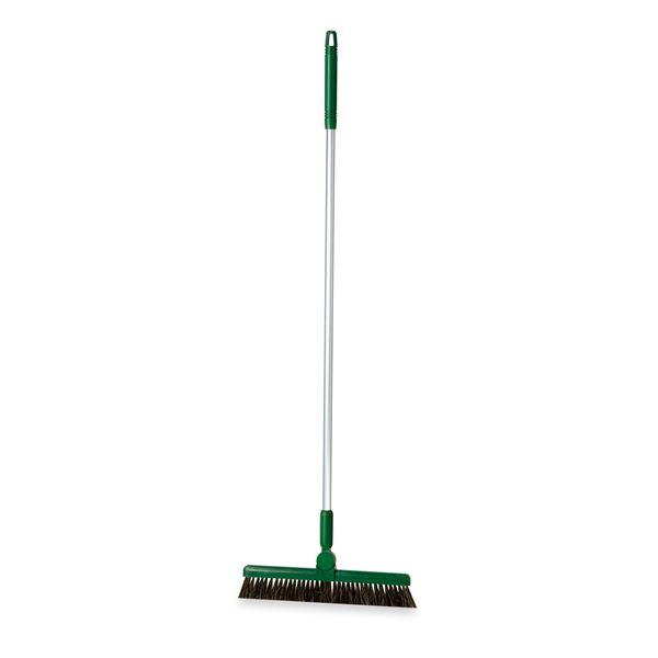 (まとめ) ほうき/掃除用品 【1本柄 グリーン 30cm】 全長:約101cm BM-2ホーキ30 〔業務用 施設 店舗〕 【×5セット】