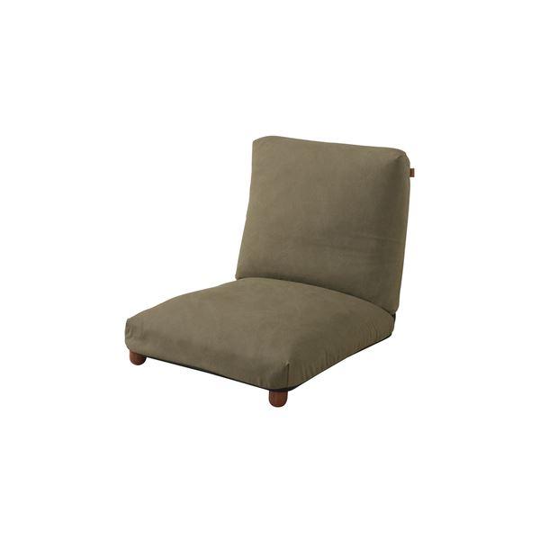 シンプル 座椅子/フロアチェア 【RKC-941GR グリーン】 幅60cm 木製 スチール コットン 『リクライナー』 〔リビング〕