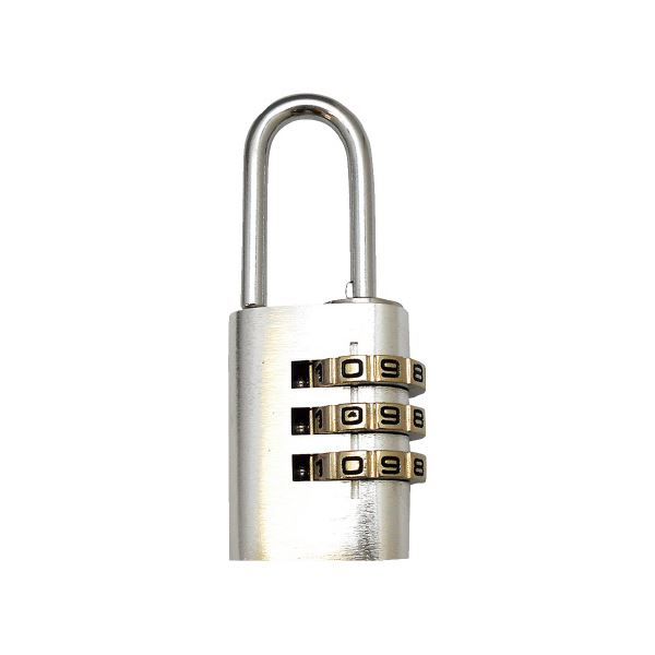 (まとめ)WAKI アルミのカギ 3段番号可変式錠 シルバー【×30セット】