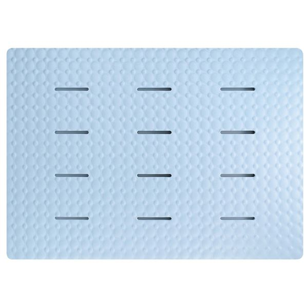 (まとめ)お風呂マット 浴室内 防カビ ラバースノコ アクアムーブ ブルー ( 浴室マット バスマット ) 【15個セット】
