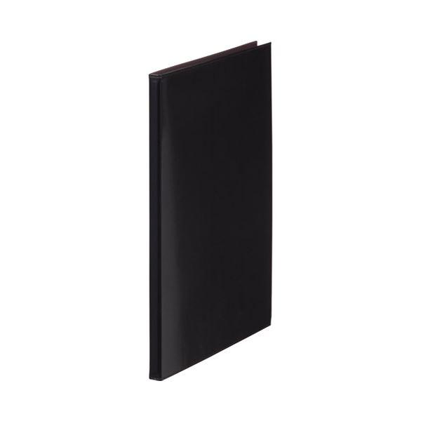 (まとめ)キングジム レザフェス クリアーファイル 1931LF 黒【×30セット】