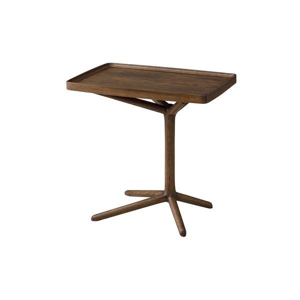 2WAY サイドテーブル/ミニテーブル 【ブラウン】 幅54cm 木製 〔リビング ダイニング ベッドルーム 寝室〕