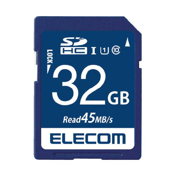 (まとめ)エレコム SDHCメモリカード 32GB MF-FS032GU11R【×10セット】