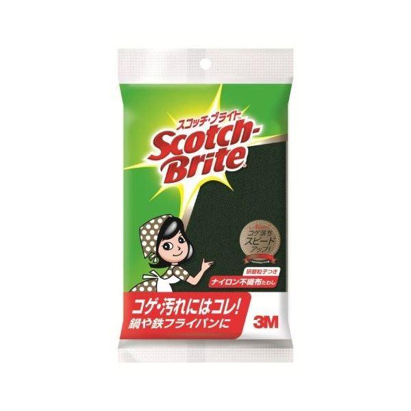 (まとめ) スコッチブライト ナイロンたわし 【研磨粒子つき】 キッチン用品 掃除用品 【×120個セット】