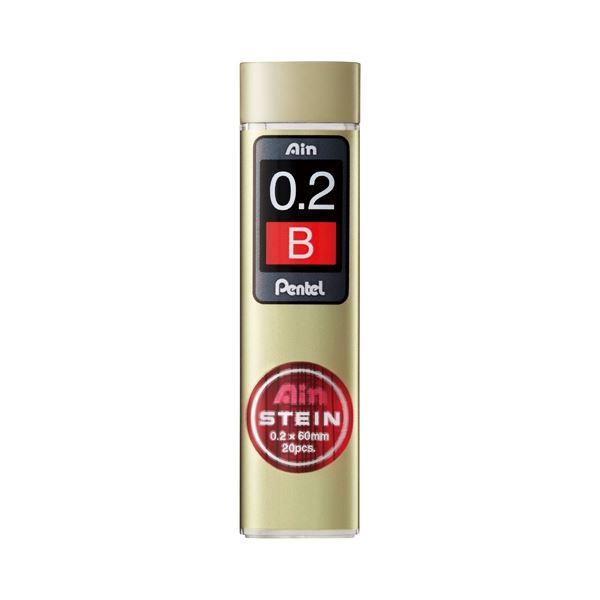 (まとめ)ぺんてる Ain替芯シュタイン0.2mm B C272W-B【×100セット】