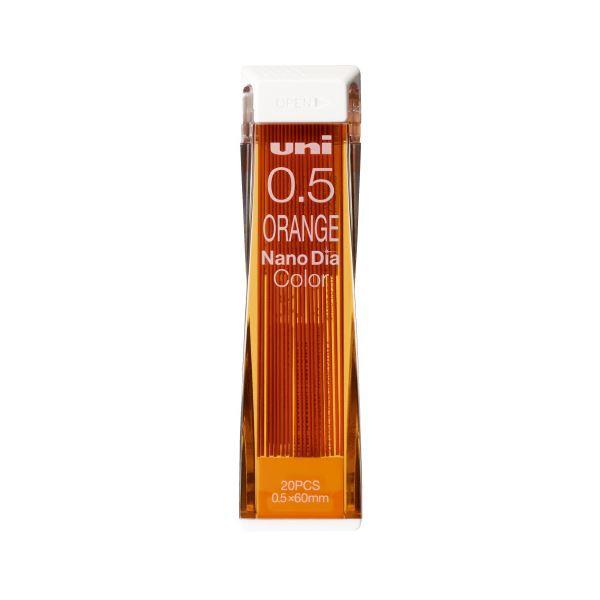 (まとめ)三菱鉛筆 ナノダイヤC芯0.5 オレンジ U05202NDC.4【×100セット】