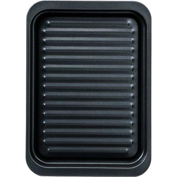(まとめ) グリルトレー/グリルパン 【ワイド深型】 フッ素樹脂加工 調理器具 【×24個セット】