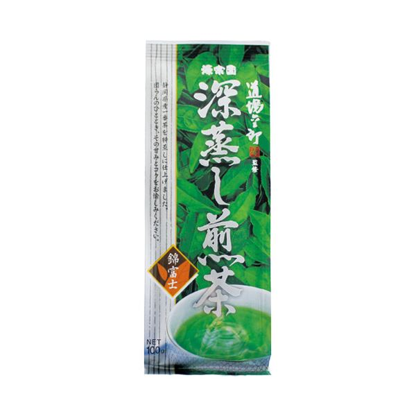 (まとめ)ハラダ製茶販売 深蒸し煎茶 錦富士 100g/1袋【×30セット】