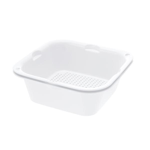 (まとめ) ザルバッとん/ざる・バットセット 【ホワイト 特盛】 食洗機対応 キッチン用品 『シェリー』 【×20個セット】