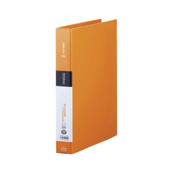 (まとめ) キングジム シンプリーズ リングファイル オレンジ【×50セット】 642SPオレ