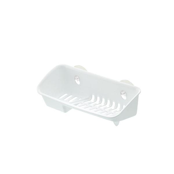 (まとめ) たわし入れ/スポンジラック 【ホワイト】 A型 抗菌加工付き キッチン用品 『シェリー』 【×60個セット】