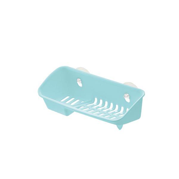 (まとめ) たわし入れ/スポンジラック 【ミントブルー】 A型 抗菌加工付き キッチン用品 『シェリー』 【×60個セット】