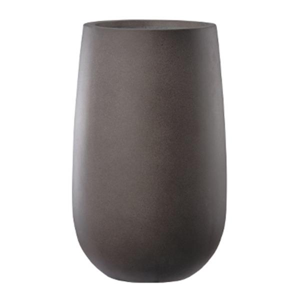【送料無料】ファイバーセメント製 軽量植木鉢 エルム ミドル ブラウン 33cm 植木鉢