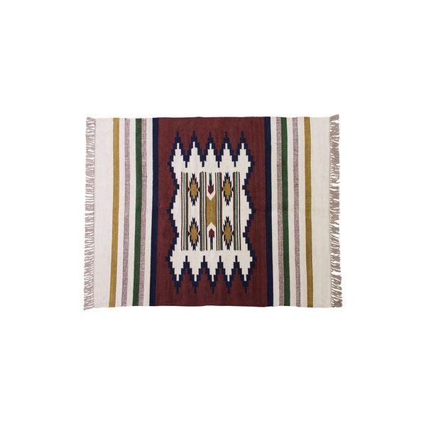 キリム ラグマット/絨毯 【170×230cm TTR-107C】 長方形 綿 インド製 〔リビング ダイニング フロア 居間〕