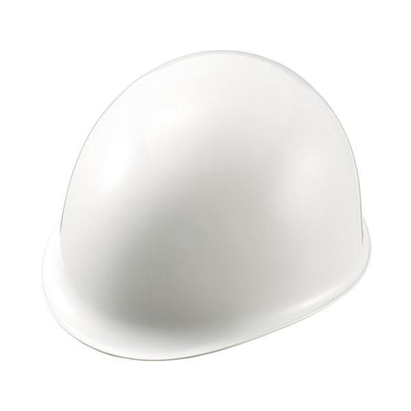 (まとめ)加賀産業 ヘルメット つばなし 白【×10セット】