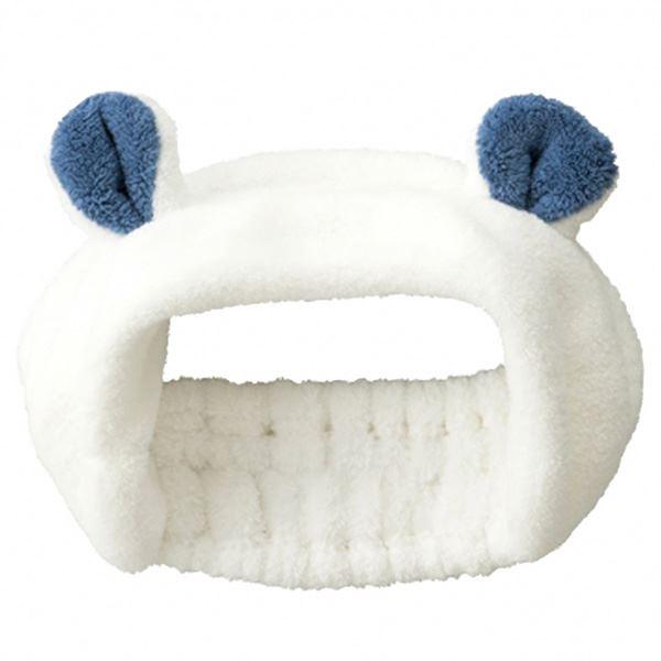 (まとめ) ヘアバンド 【シロクマ】 マイクロファイバータオル使用 吸水アニマル 『carari zooie』 【×48個セット】