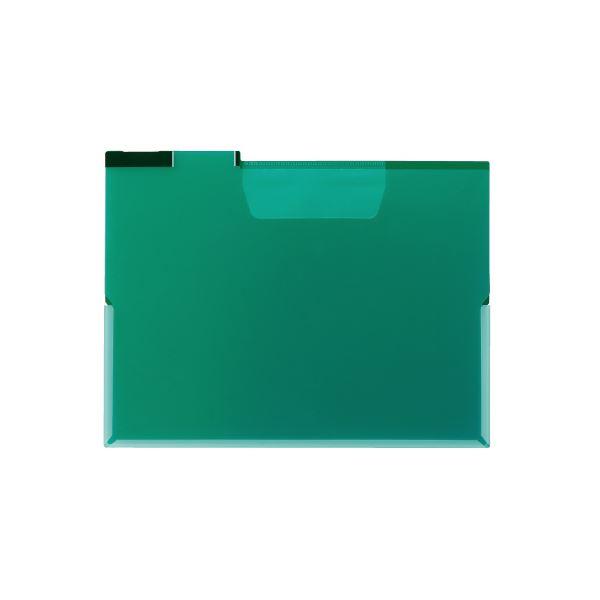 (まとめ)キングジム FV フォルダー(透明)A4E FV833T 緑 【×100セット】