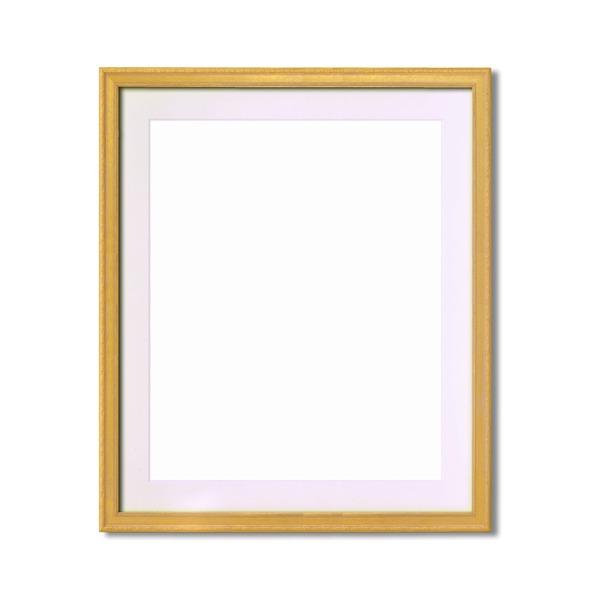 【軽量水彩額】金水彩額・銀水彩額・「UV(紫外線)カットアクリル」 ■柄入り水彩額マット付 F10 ゴールド