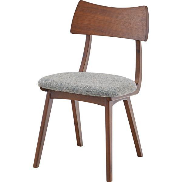 ダイニングチェア/食卓椅子 2脚セット 【ブラウン】 幅45cm×奥行45.5cm×高さ77.5cm×座面高44.5cm 木製素材 〔リビング〕