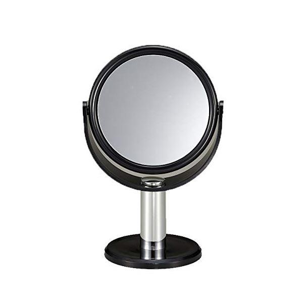 (まとめ) スタンドミラー/卓上鏡 【10倍拡大鏡付き】 鏡サイズ(約):直径10.5cm 【×36個セット】【ポイント10倍】