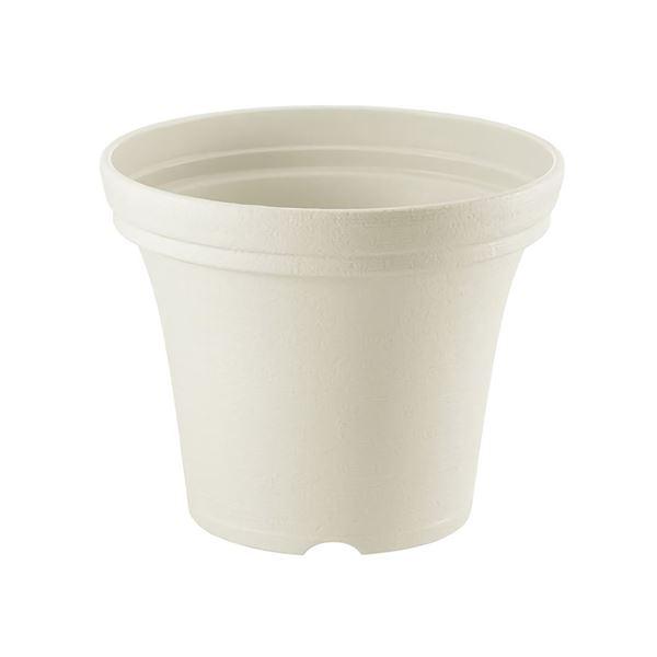 (まとめ) ノヴェルポット/植木鉢 【20型N 容量約2.2L アイボリー】 約Ф20×H16cm ガーデニング用品 園芸 【×36個セット】