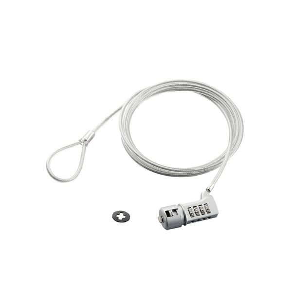 エレコム セキュリティスロット対応セキュリティワイヤーロック 4桁ダイヤル式タイプ ESL-37 1セット(5パック)