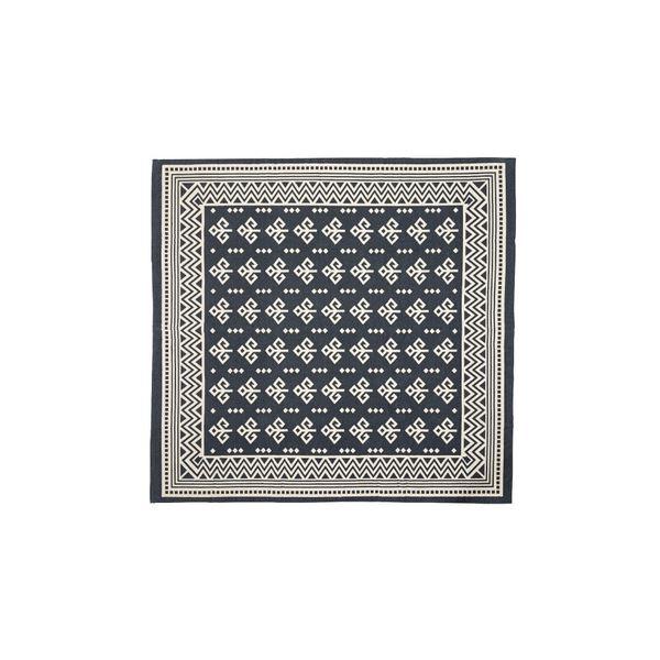 モダン ラグマット/絨毯 【180×180cm TTR-162B】 正方形 綿 インド製 〔リビング ダイニング フロア 居間〕